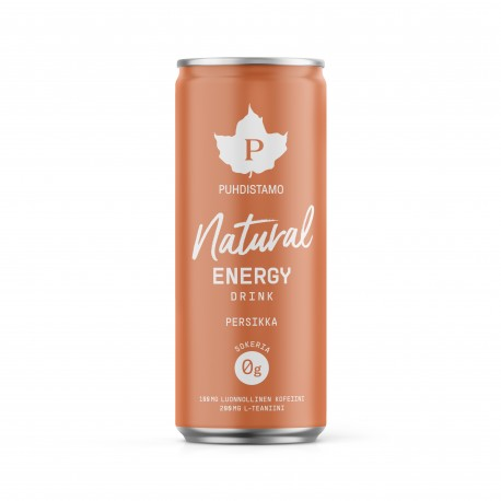 Natural Energy Drink - Persikka 330ml pullo