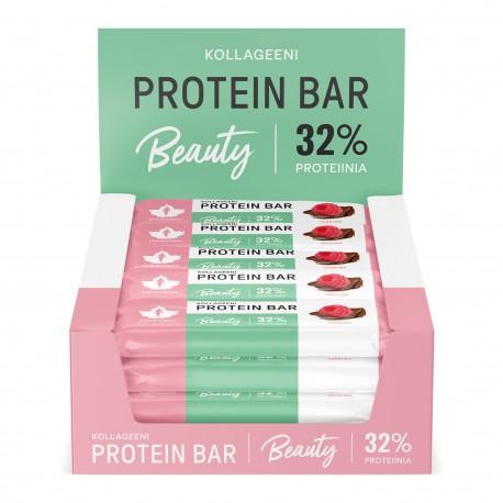 Kollageeni Protein Bar - Vadelma 24 x 30 g proteiinipatukka