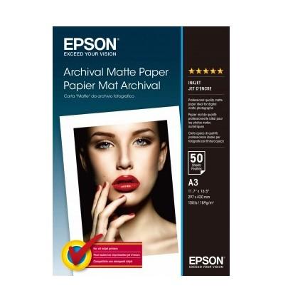 Epson Archival Matte Paper, DIN A3, 189 g/m², 50 arkkia