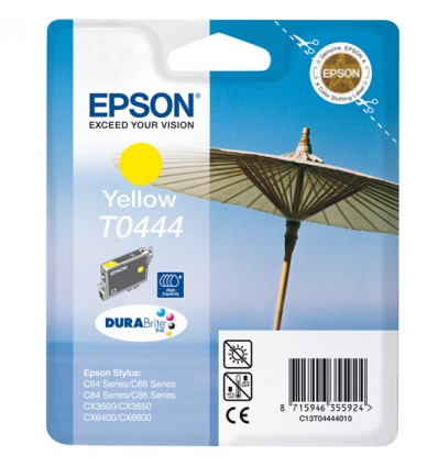 Epson Parasol Yksittäispakkaus, keltainen T0444 riittoisa DURABrite-muste