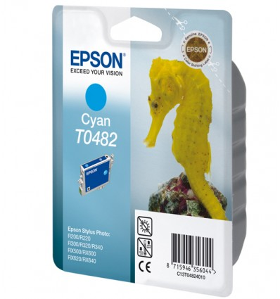 Epson Seahorse Yksittäispakkaus, syaani T0482