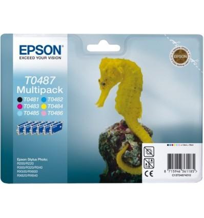 Epson Seahorse Monipakkaus, 6 väriä T0487