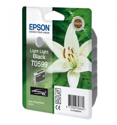 Epson Lily Yksittäispakkaus, erittäin vaalea musta T0599 UltraChrome K3