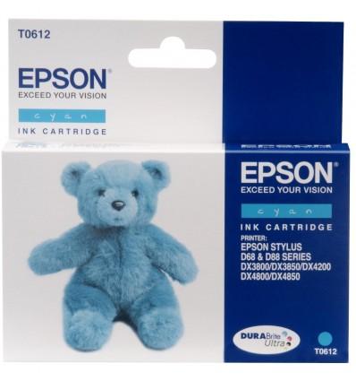 Epson Teddybear Yksittäispakkaus, syaani T0612 DURABrite Ultra -muste