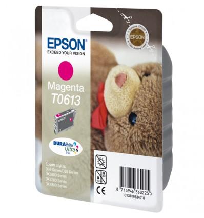 Epson Teddybear Yksittäispakkaus, magenta T0613 DURABrite Ultra -muste