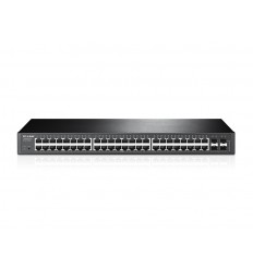 TP-LINK T1600G-52TS (TL-SG2452) Hallittu L2+ Gigabit Ethernet (10/100/1000) Musta 1U