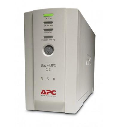 APC Back-UPS UPS-virtalähde Valmiustila (ilman yhteyttä) 350 VA 210 W 4 AC-pistorasia(a)