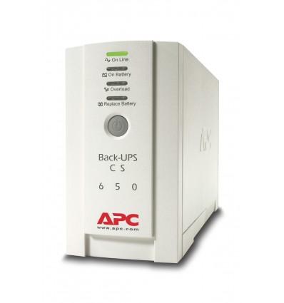 APC Back-UPS UPS-virtalähde Valmiustila (ilman yhteyttä) 650 VA 400 W 4 AC-pistorasia(a)