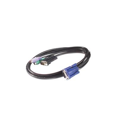 APC 1.8m KVM PS/2 Cable KVM-kaapeli 1,8 m Musta
