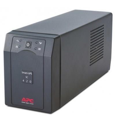 APC Smart-UPS UPS-virtalähde Linjainteraktiivinen 420 VA 260 W 4 AC-pistorasia(a)