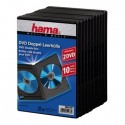 Hama DVD Double Jewel Case with foil, 10-pack, black 2 levyt Musta