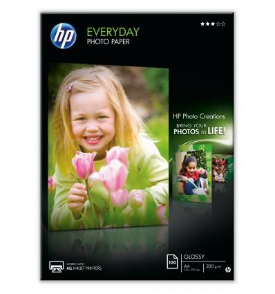 HP Q2510A valokuvapaperi Musta, Sininen, Valkoinen A4