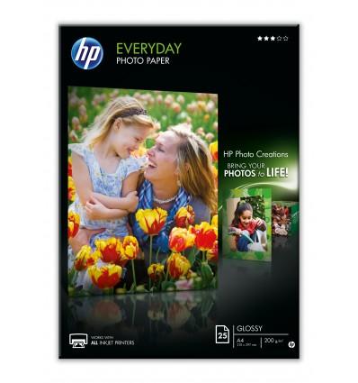 HP Q5451A valokuvapaperi Musta, Sininen, Valkoinen Puolikiiltävä A4