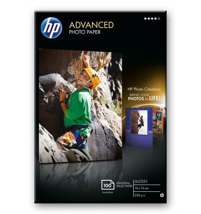 HP Advanced Glossy valokuvapaperi Musta, Sininen, Valkoinen Kiilto