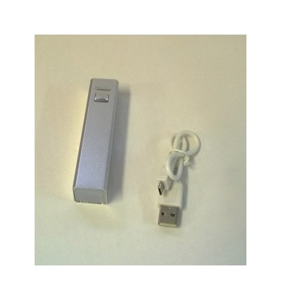 City- Power Bank, Capacity 2200mah Silver Accessories 1 USB cable, Adapter x 1
