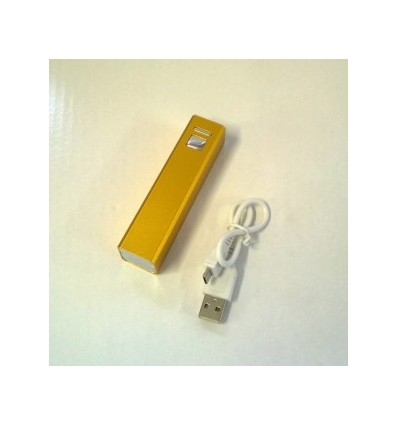 City- Power Bank, Capacity 2200mah Yellow Accessories 1 USB cable, Adapter x 1