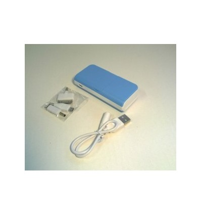 City- Power Bank, Capacity 5600mah Blue Accessories 1 USB cable, Adapter x 3