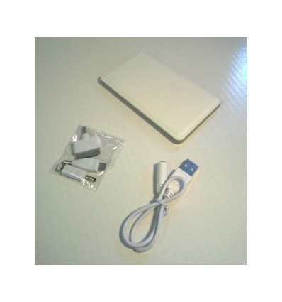 City- Power Bank, Capacity 4000mah White Accessories 1 USB cable, Adapter x 3