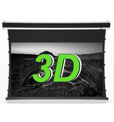 City+ 84in 16:9 3D Luxus-moottorikangas, hopea