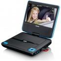 "Lenco DVP-710 Kannettava DVD-soitin Musta, Sininen 17,8 cm (7"")"