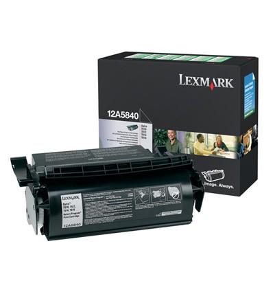 Lexmark 12A5840 värikasetti Alkuperäinen Musta 1 kpl
