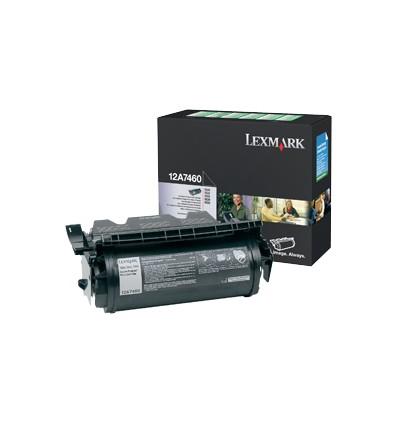 Lexmark 12A7460 värikasetti Alkuperäinen Musta 1 kpl