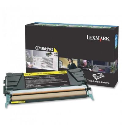 Lexmark C746A1YG värikasetti Alkuperäinen Keltainen 1 kpl