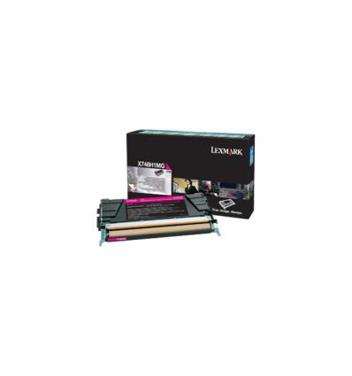 Lexmark X748H1MG värikasetti Alkuperäinen Magenta 1 kpl
