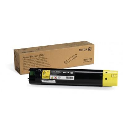 Xerox Keltainen Värikasetti (Suuri Kapasiteetti) (12 000 Sivua) Phaser 6700