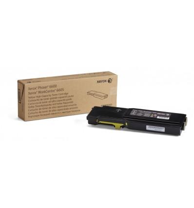 Xerox Phaser 6600/Workcentre 6605, Keltainen Värikasetti (Suuri Kapasiteetti, 6 000 Sivua)