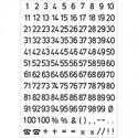 HERMA Numbers 5mm 1-100 weatherproof film transparent black 2 sh. itsekiinnittyvä symboli
