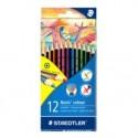 Staedtler Noris colour 185 värikynä 12 kpl Musta, Sininen, Ruskea, Vihreä, Vaaleansininen, Vaaleanvi