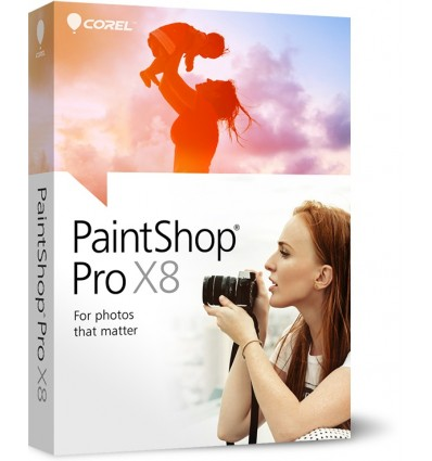 Corel PaintShop Pro X8, CORP, UPG, 251-500U Päivitys Monikielinen