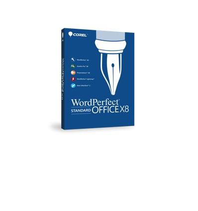 Corel WordPerfect Office X8 - Standard Edition, 25 99U, Level 3, EN/FR Englanti, Ranska