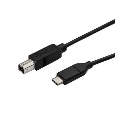 StarTech.com USB2CB50CM USB-kaapeli 0,5 m 2.0 USB C B Musta