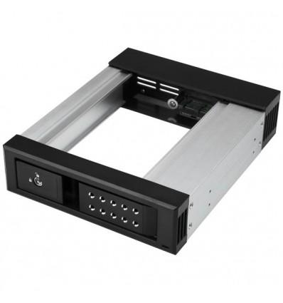 """StarTech.com HSB1SATSASBA asemapaikkaan asennettava paneeli 13,3 cm (5.25"""") Liitinpaneeli Musta"""