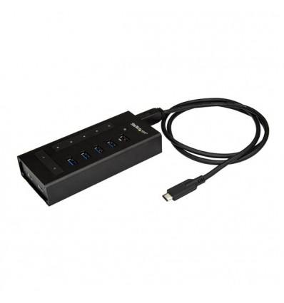 StarTech.com HB30C5A2CST USB 3.0 (3.1 Gen 1) Type-B 5000Mbit/s Musta keskitin