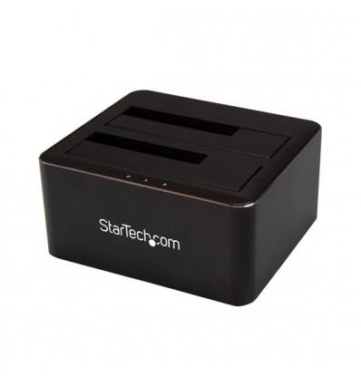 StarTech.com SDOCK2U33V tallennusaseman telakointiasema USB 3.0 (3.1 Gen 1) Type-B Musta