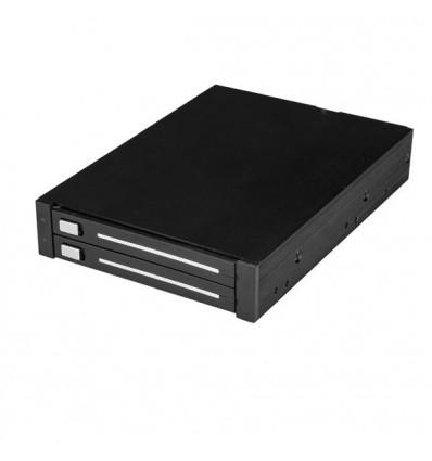 """StarTech.com HSB225S3R asemapaikkaan asennettava paneeli 8,89 cm (3.5"""") Liitinpaneeli Musta"""