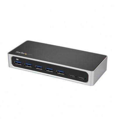 StarTech.com HB30C5A2CSC USB 3.0 (3.1 Gen 1) Type-B 5000Mbit/s Musta, Hopea keskitin