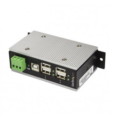 StarTech.com HB20A4AME USB 2.0 Type-B 480Mbit/s Musta keskitin
