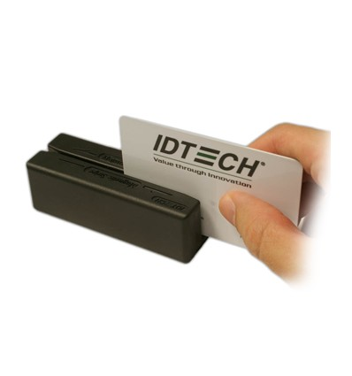 ID TECH MiniMagII magneettikortinlukija PS/2 Musta