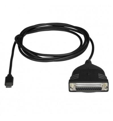 StarTech.com ICUSBCPLLD25 kaapeli liitäntä / adapteri USB C DB25 Musta