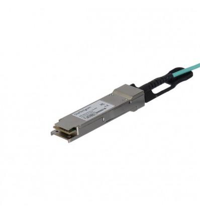 StarTech.com QSFP40GAO15M valokuitukaapeli 15 m QSFP+ Musta