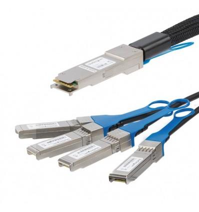 StarTech.com QSFP4SFP10C5 verkkokaapeli 5 m Musta