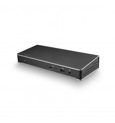 StarTech.com TB3DOCK2DPPU USB 3.0 (3.1 Gen 1) Type-C Musta kannettavien tietokoneiden telakka ja por