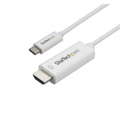 StarTech.com CDP2HD1MWNL videokaapeli-adapteri 1 m USB C HDMI-tyyppi A (vakio) Valkoinen