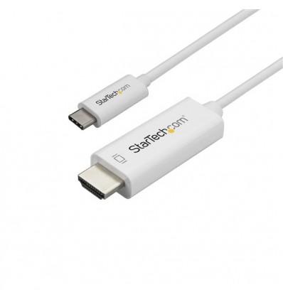 StarTech.com CDP2HD3MWNL videokaapeli-adapteri 3 m USB C HDMI-tyyppi A (vakio) Valkoinen