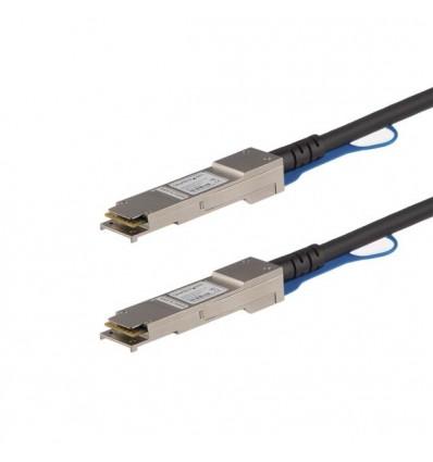 StarTech.com QSFP40GPC05M verkkokaapeli 0,5 m Musta