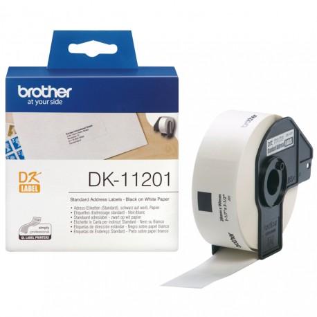 Brother DK-11201 etikettien kirjoitusnauha Musta valkoisella